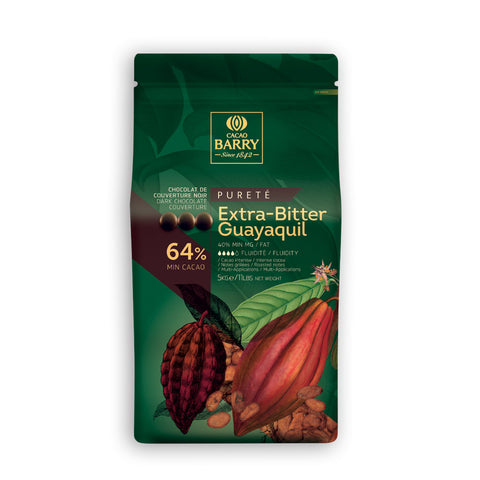 Cacao Barry Dark Extra Bitter 'Guayaquil' Couverture 64% 4x5kg Pistols