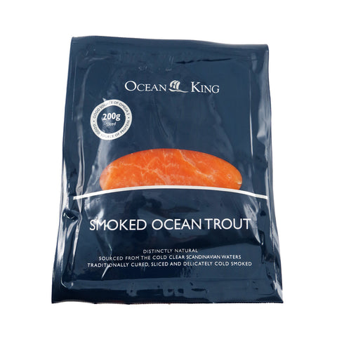 Ocean King Smoked Ocean Trout 10x200g