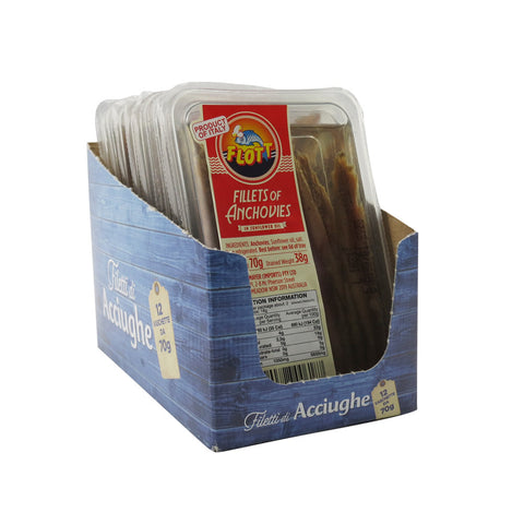 Flott Fillets of Anchovies 12x70g
