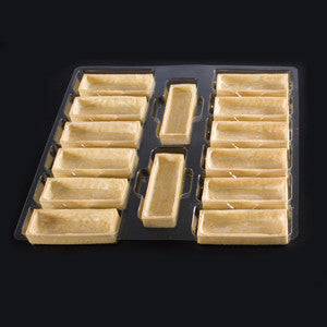 La Rose Noire Tart Shells, Vanilla Large Rectangle 70x28g