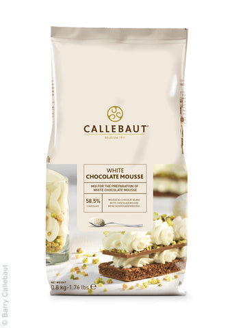 Callebaut Real White Chocolate Mousse Powder 10x800g Bag