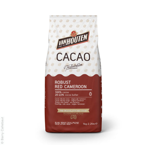 Van Houten Red Cameroon Single Origin 20-22% Cocoa Powder 6x1kg