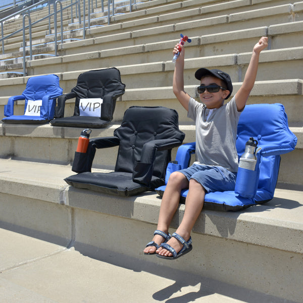 Portable Stadium Chair For Bleachers – Extra Wide Water Resistant  Deluxe Model