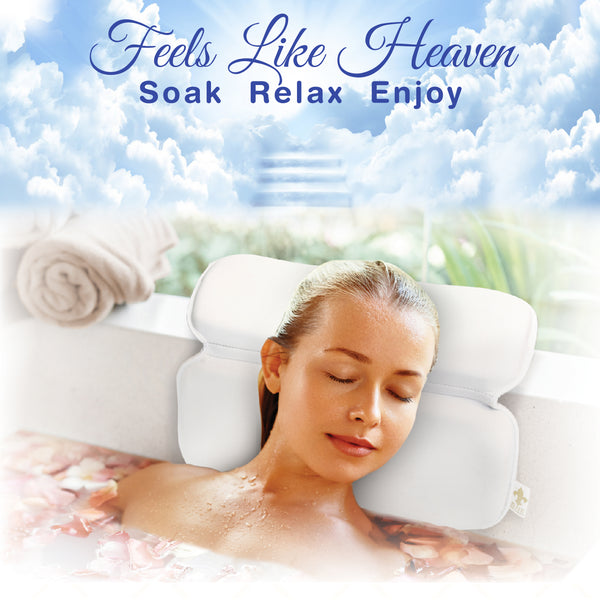 Oh So Soft Premium Bath Pillow. Discover new heights of indulgence