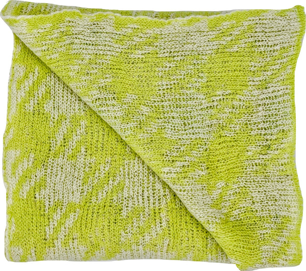 Ute Werner Green / Cream Scarf