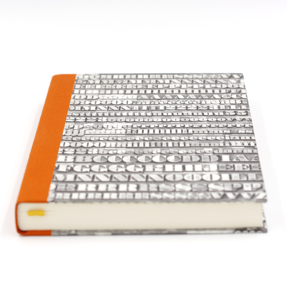Notebook orange typo atelier vo brussels concept store