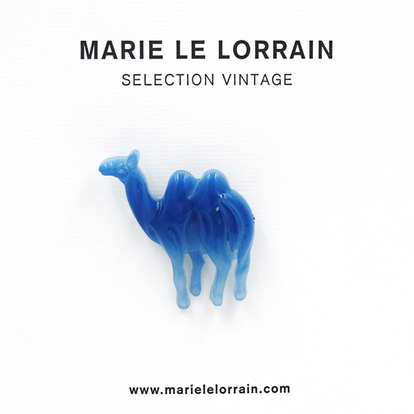 """ Blue Camel "" Brooch"