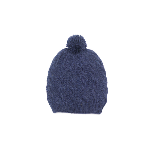 Concept store brussels Bellepaga baby alpaca blue twisted beanie with pompom one