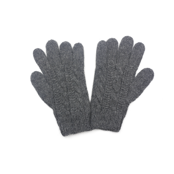 Concept store brussels Bellepaga baby alpaca grey twisted gloves one
