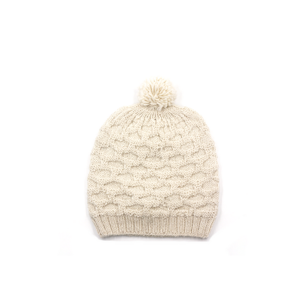 Concept store brussels Bellepaga baby alpaca white dune beanie with pompom one