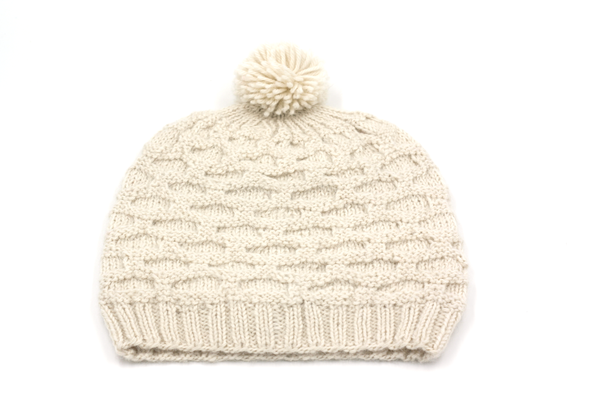 Concept store brussels Bellepaga baby alpaca white dune beanie with pompom two