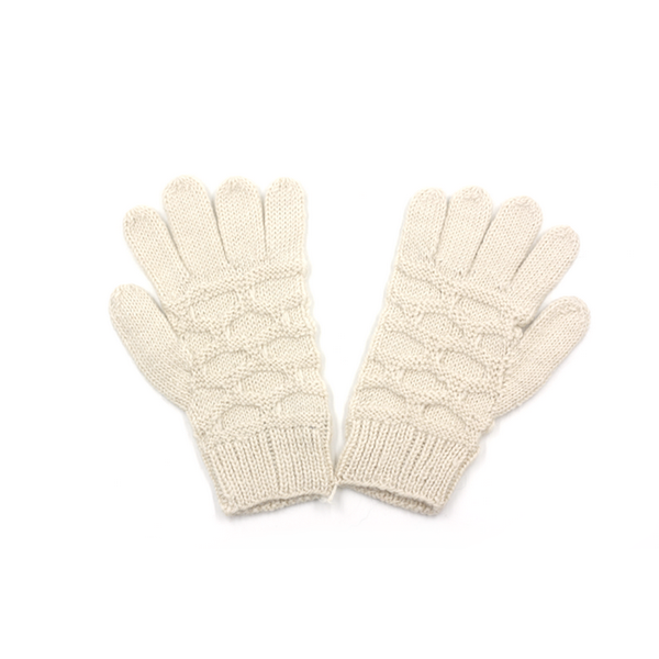 Concept store brussels Bellepaga baby alpaca white dune gloves one