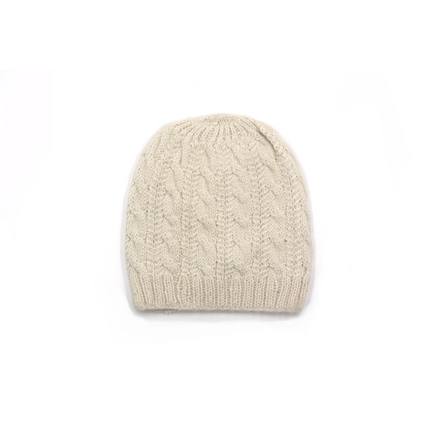 Concept store brussels Bellepaga baby alpaca white twisted beanie one