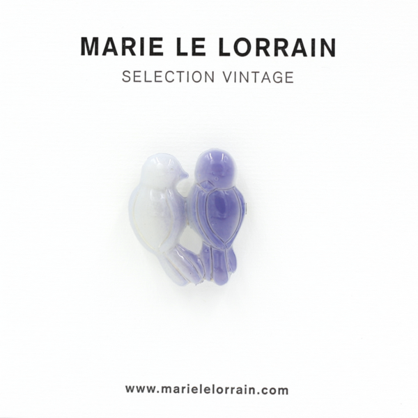 Concept store brussels Marie Le Lorrain Blue birds lovers brooch