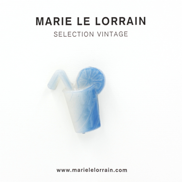 Concept store brussels Marie Le Lorrain Blue cocktail brooch