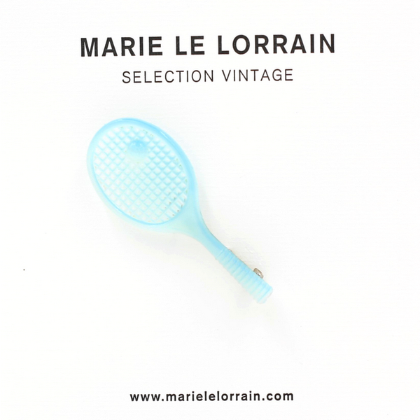 Concept store brussels Marie Le Lorrain Blue rackets brooch