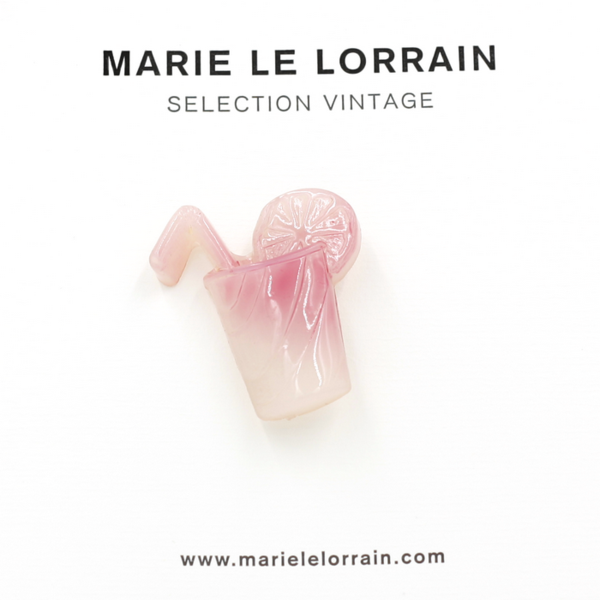 Concept store brussels Marie Le Lorrain pink cocktail brooch