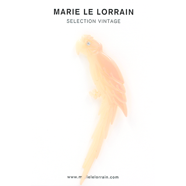 Concept store brussels Marie Le Lorrain pink parrot brooch