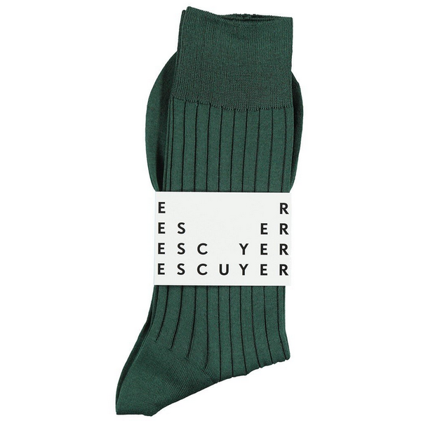fil d'ecosse socks duck green escuyer brussels concept store