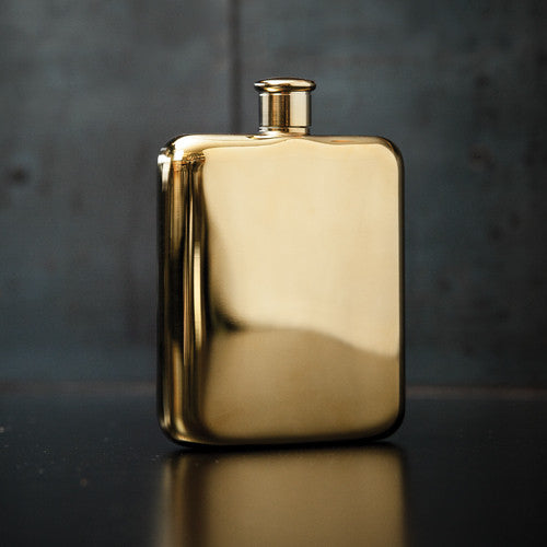 gold plated flask viski brussels concept store two