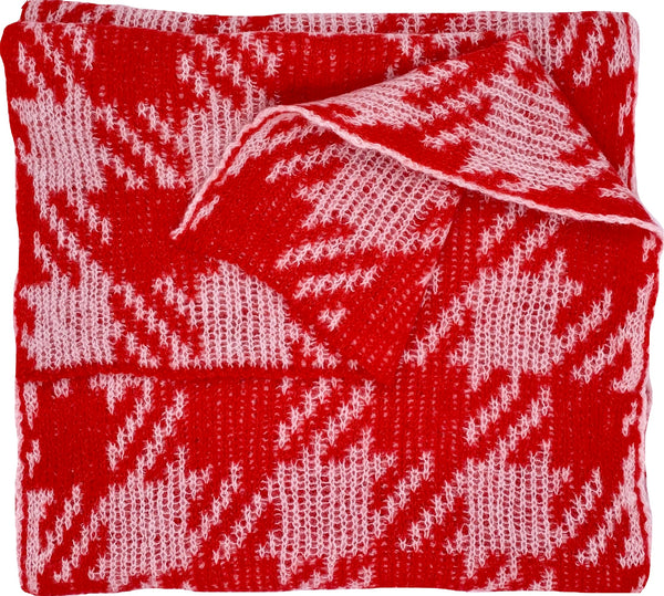 Ute Werner Red / Cream Scarf