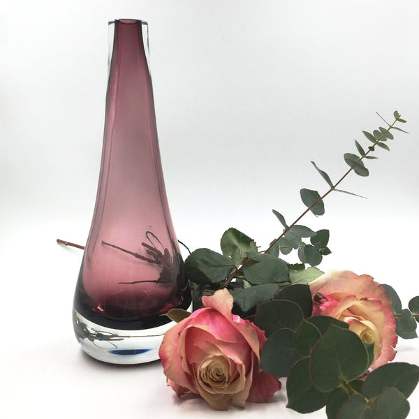 Purple drop shape vase