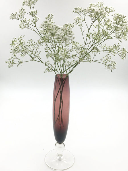 Elegant soliflower purple vase
