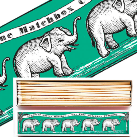 Elephant  Long Matchbox
