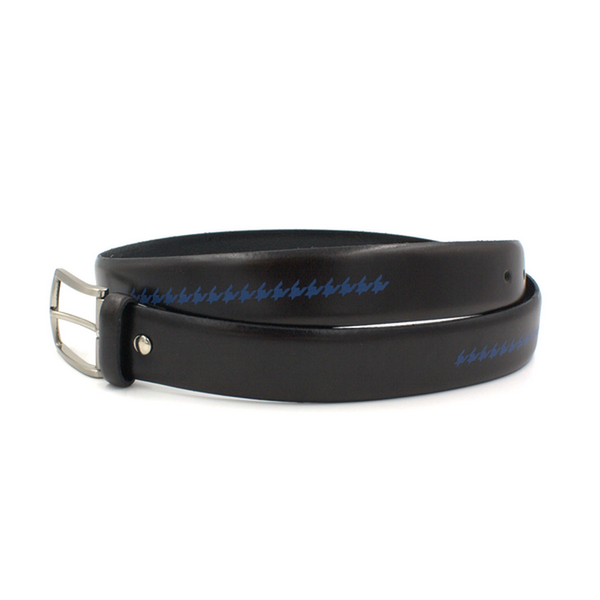 Black and blue houndstooth belt