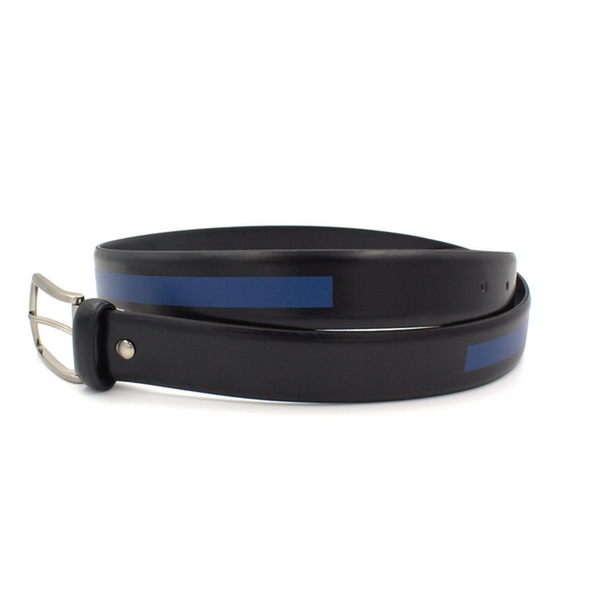 Blue and black belt