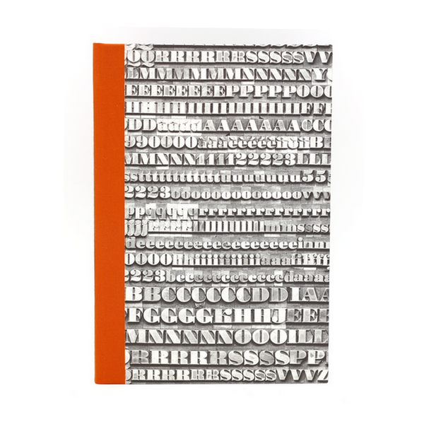 Notebook orange typo atelier vo brussels concept store cover