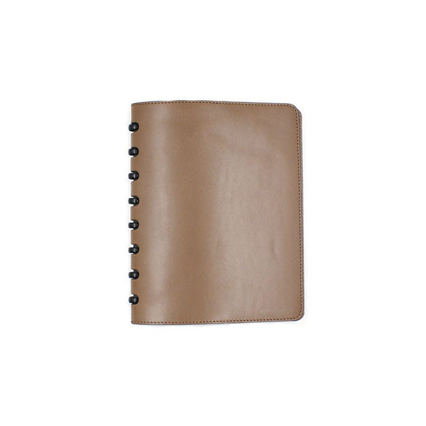 Natural leather cover for atoma notebook michael guerisse oleary brussels concept store