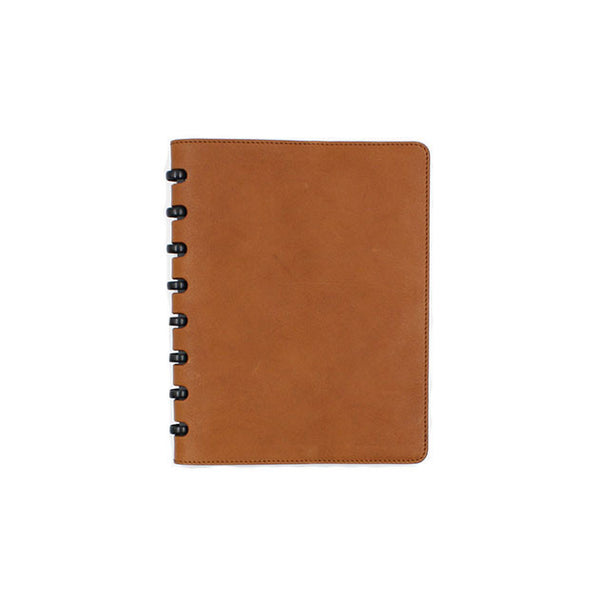 Camel leather cover atoma notebook michael guerisse oleary brussels concept store