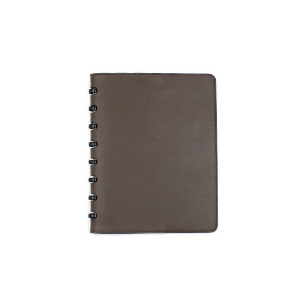 Brown leather cover atoma notebook michael guerisse oleary brussels concept store
