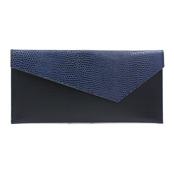 Black clutch blue flap michael guerisse oleary brussels concept store front