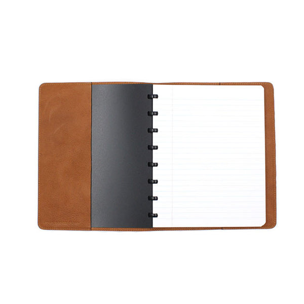 Camel leather cover atoma notebook michael guerisse oleary brussels concept store two