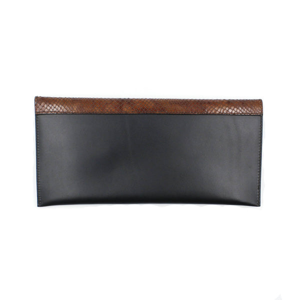 brussels concept store michael guérisse black clutch croco effect flap back