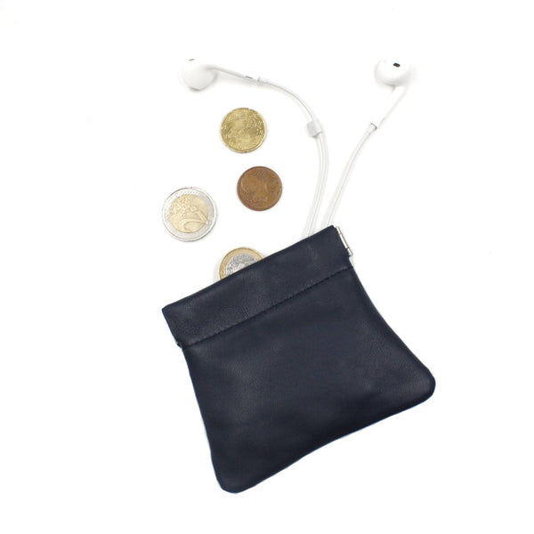 brussels concept store michael guérisse snap top coin purse navy blue