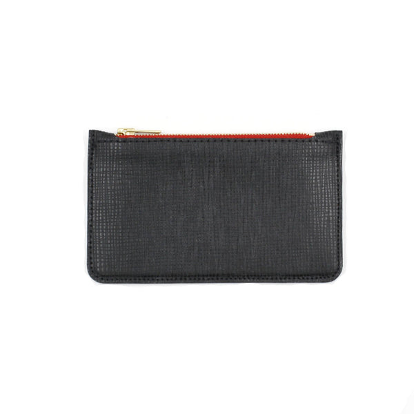 Mini structured leather pouch michael guerisse brussels concept store