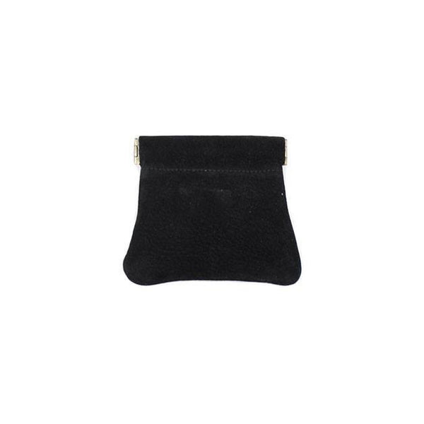 brussels concept store michael guérisse snap top coin purse black suede