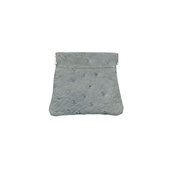 brussels concept store michael guérisse snap top coin purse grey green