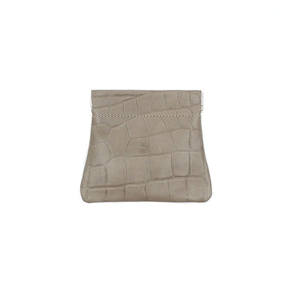 brussels concept store michael guérisse snap top coin purse taupe