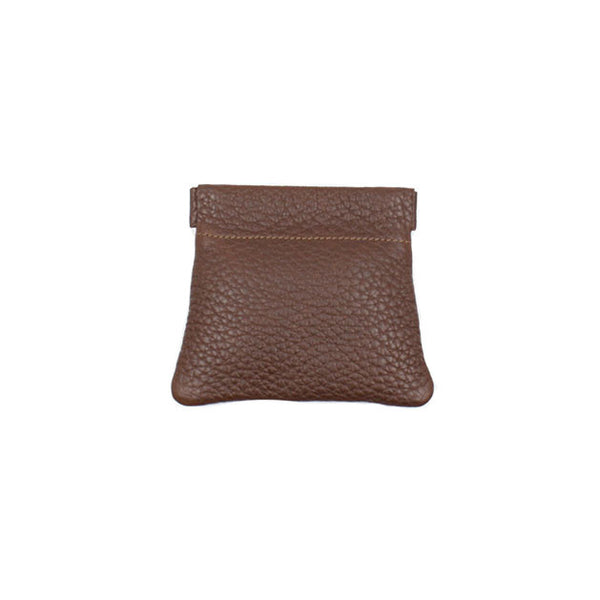 brussels concept store michael guérisse snap top coin purse brown