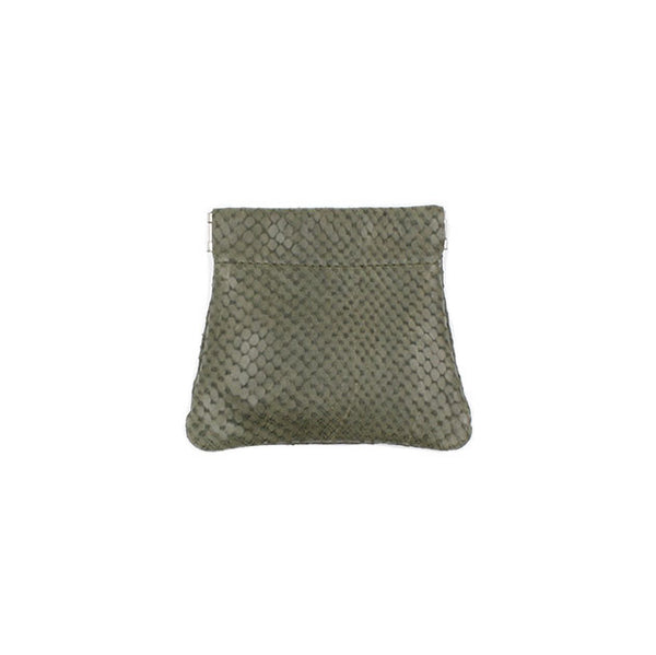 brussels concept store michael guérisse snap top coin purse khaki snake