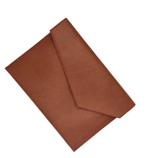 Structured Camel & Red Document holder