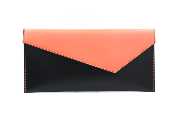 Black & Pink Envelope Clutch
