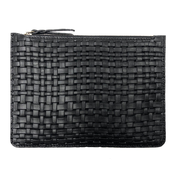Braided Black Maxi pouch