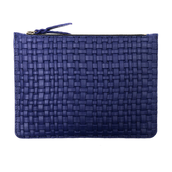Braided Klein Blue Maxi pouch
