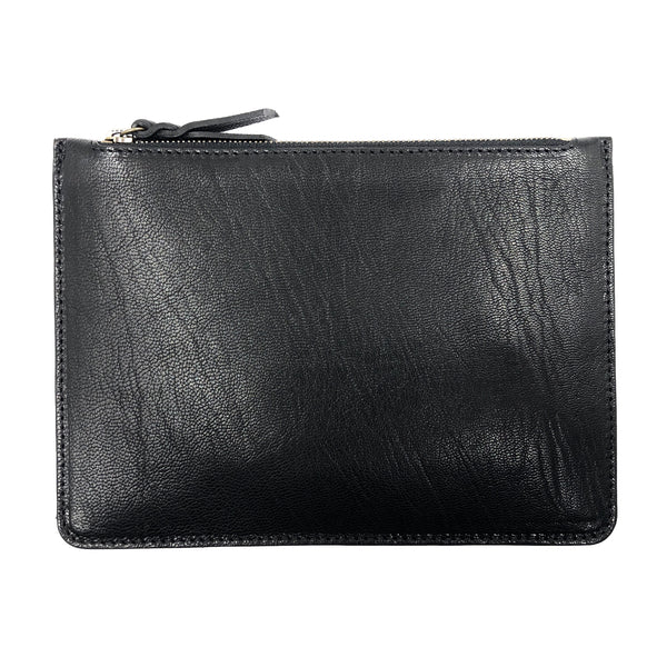 Sheep leather Black Maxi pouch