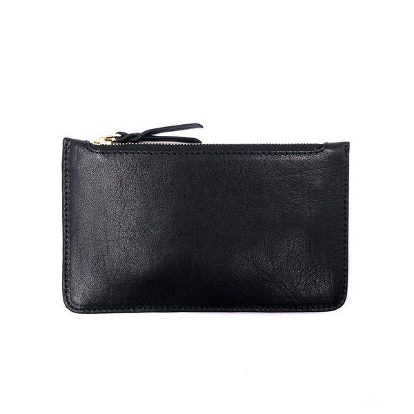 Sheep Leather Black Mini pouch